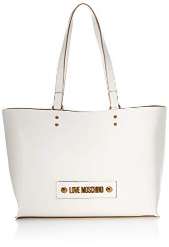 Love Moschino Jc4024pp1a, Borsa Tote Donna, Bianco (Bianco), 12x27x40 cm (W x H x L)