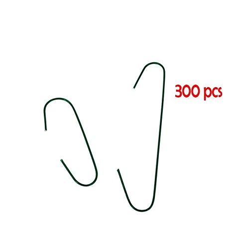 Fomax Crochets en métalx300 pièces - 38 et 65cm - : Argent - Vert