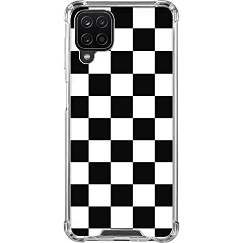 Skinit Clear Phone Case Compatible with Samsung Galaxy A12 - Skinit Originally Designed Black and White Checkered Design