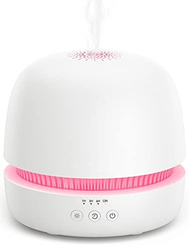 Aroma Diffuser Diffusor 300ML Ultraschall Luftbefeuchter Duftlampen Humidifier BPA-Free mit patentiertem Ölflusssystem für ätherische öle Raumbefeuchter Kinderzimmer Schlafzimmer Raum Büro Yoga (Weiß)