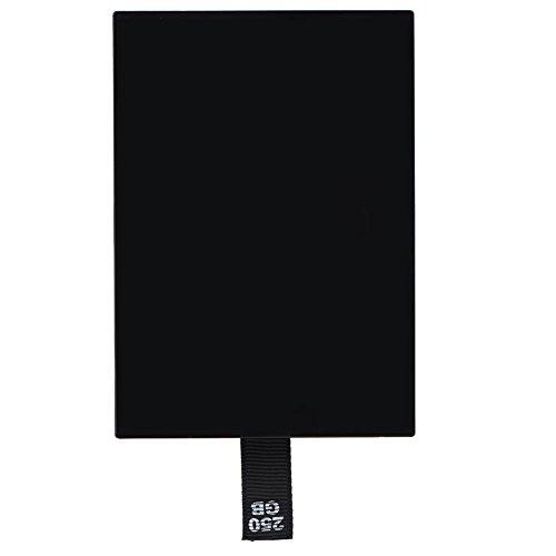 Bewinner Externe Festplatten, 120 G/250 G HDD-Festplatten-Set für Xbox 360 interne Slim, schwarz, erweitert Datenspeicher (250 GB)