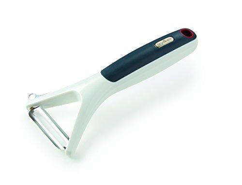 Zyliss E950020 Eplucheur/ économe rasoir en Y, lame pivotante acier inoxydable, gris et blanc