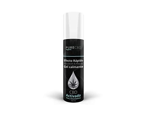 Gel de CBD para alivio del dolor articular y muscular | Efecto calmante y refrescante | 100% Natural con extracto de Aloe Vera y Glucosamina - Formato de 100ml