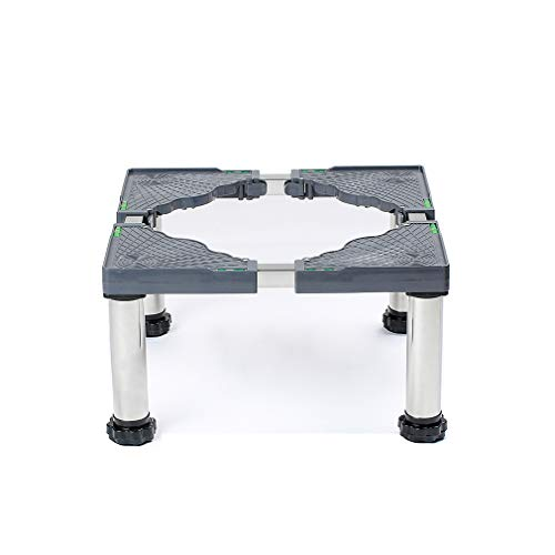 Podeste & Rahmen für Waschmaschinen 45-70cm Sockel Untergestell für Trockner Kühlschrank Roller Podest 24-27cm Höhenverstellbare Edelstahlsockel-Universalhalterung Für Möbel