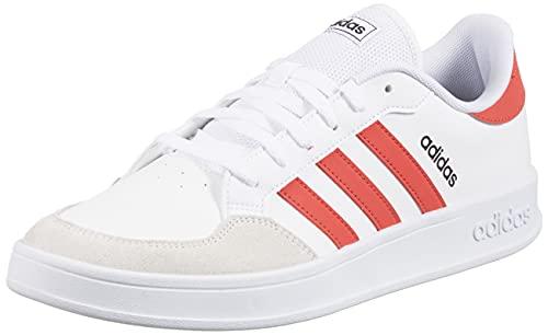adidas BREAKNET, Zapatillas de Tenis Hombre, FTWBLA/ROJTRI/NEGBÁS, 43 EU