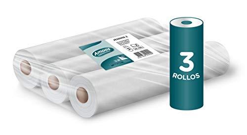 Amoos Rollos De Camilla De 2 Capas Color Blanco 917 Gr - Pack de 3