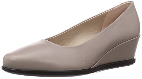 ECCO Damen Shape 45 Wedge Grey Frisson Loafer, Grau (Grau Rose), 38/38.5 EU