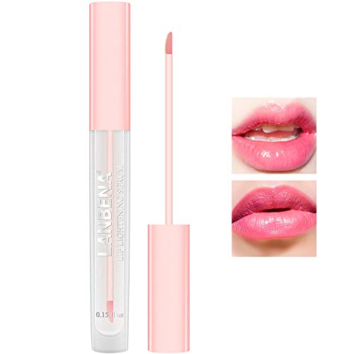 Lip Lightening Fluid Lip Serum for Fading Lip Lines Brightening Lip Skin Reduce Pigmentation Moisturizing Pink Lips Long Lasting Lip Liquid