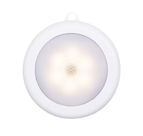 Hoteon Motion Sensor Light, Battery Operated LED Nightlight, Wireless Sensor Wall Light for Hallway, Wardrobe, Basement, Cupboard, Garage etc., (Pack of 1, Warm Light)