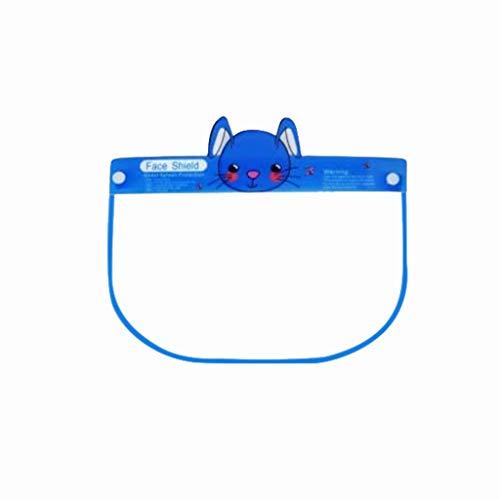Kviklo Kinder-Schutzkappe, transparent, für die Küche, Ölspritzer, Anti-Rauch Gr. 80, Kaninchenblau-6 Stk