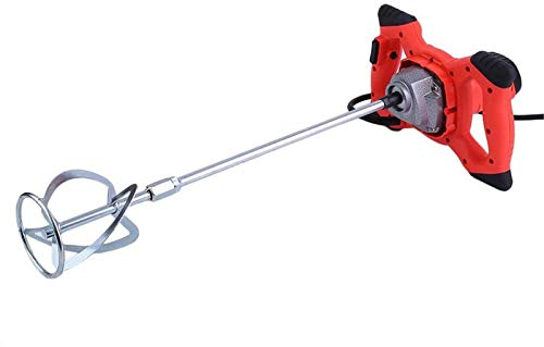 2100W Handheld Portable Paddle Mixer Adjustable 6 Speed Stirrer Anti-Slip Electric Pro Industrial Drill Mixer Stirring Tool for Mortar Grouts Paint Cement Plaster Plastering