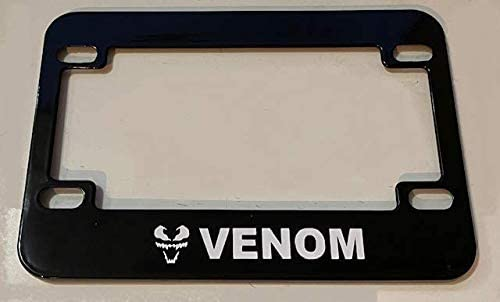 Venom - Black Motorcycle Scooter Plate Fees free!! Frame Her Recommended Super License