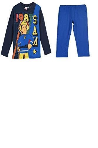 Feuerwehrmann Sam Jungen Schlafanzug, blau, Gr. 98-116 SizeInfoDisplayName 3 Jahre