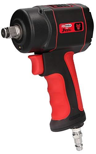KS Tools 515.1315 The miniDEVIL Hochleistungs-Druckluft-Schlagschrauber, 1/2 Zoll, max. Löse-Drehmoment 1084 Nm