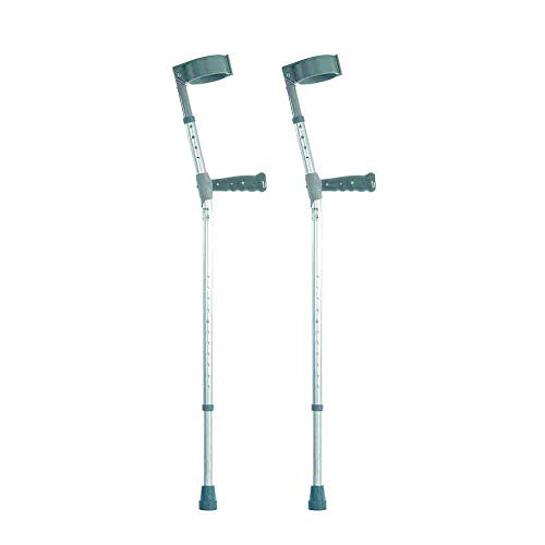 NRS Healthcare Double Adjustable Crutches with PVC Handle - Extra Long -...