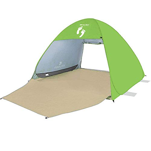 LHQ-HQ Tienda de campaña al Aire Libre Familia UV Protección Pop Up Beach Impermeable Adecuado for For2-3 Personas acampando al Aire Libre al Aire Libre for familias Azul Carpa (Color : Green)