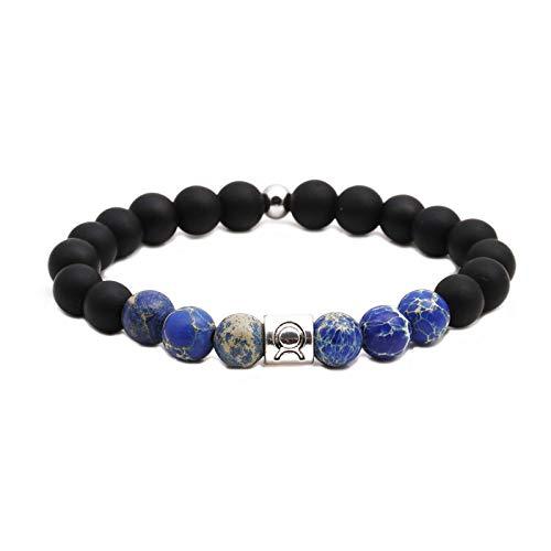 Natuurlijke stenen armband, kralen armband, 8 mm mode yoga energie Lucky armband vulkanische steen mat steen sterrenbeeld Taurus decoratie sport kralen yoga armband persoonlijke kleding accessoires jood
