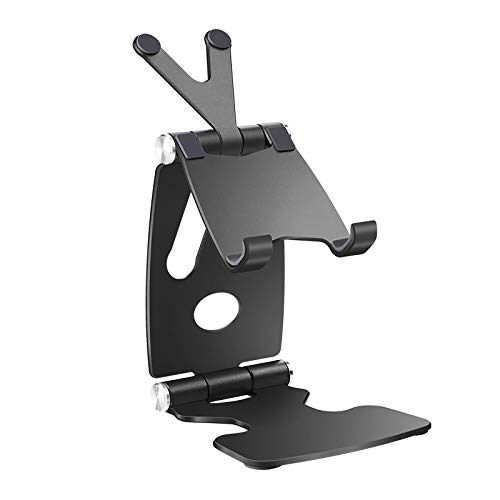 Huante Tablet Phone Stand for 7.9 9.7 10.5 11 Inch Metal Rotation Holder for Phone Black