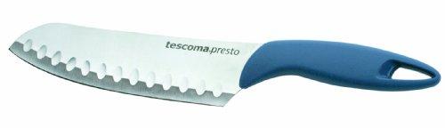 Tescoma 863049 Presto Coltello Giapponese, Acciaio Inossidabile, Blu, 20 cm, 1 Pezzo