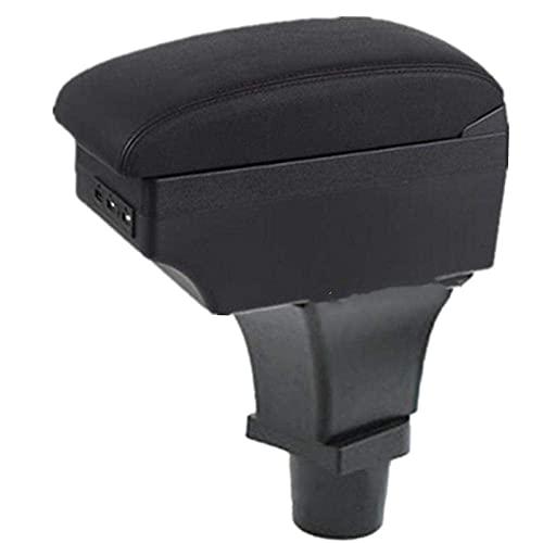 Apoyabrazos para coche Almacenamiento de automóvil Para Fiat 500 Caja de reposabrazos Caja de almacenamiento central Accesorios de automóvil Interior con apoyabrazos de automóvil USB LED (Color: lín