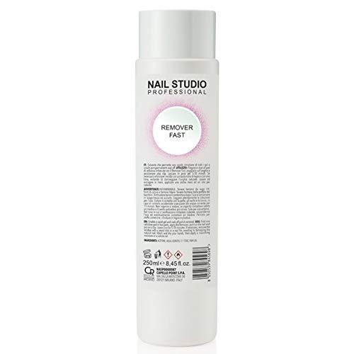 Nail Studio - Solvente per Unghie Remover Fast - Solvente Smalto Semipermanente Professionale - Formato da 250ml