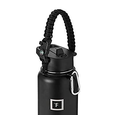 IRON °FLASK Paracord Handle Sports Water Bottle Accessories (Midnight Black)
