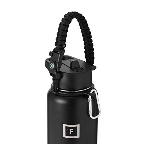 IRON °FLASK Paracord Handle Sports Water Bottle Accessories (Midnight Black) - Seven Core Paracord Bracelet