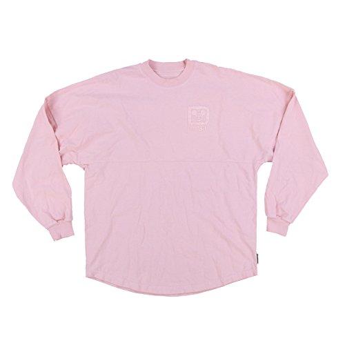 Disney Parks Womens Long Sleeve Spirit Jersey (Millennial Pink, XXL)