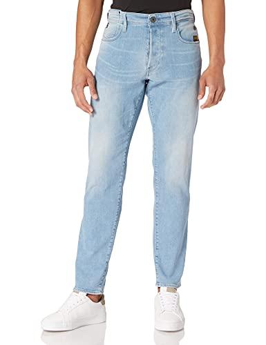 G-STAR RAW Mens G-bleid Slim Jeans, Sun Faded Aqua Marine C300-B469, 30W / 32L