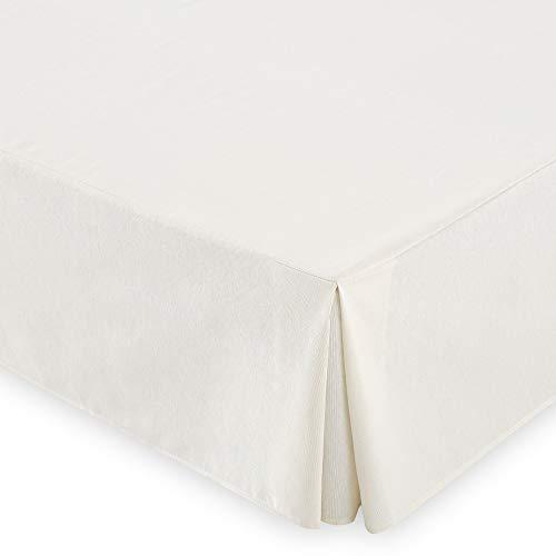 Vipalia copre Canape Somier. Mantovana tartine in cotone / poliestere. Proteggi letto per boxspring. Copriletto per lunghezza 190/200 cm. Beige. Canape 135x190 / 200 cm.