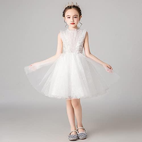 SUNXC Mujer Vestido Halloween Princesa, Vestido de Princesa para niños-One Kind_130cm,Disfraces De Niñas Vestido