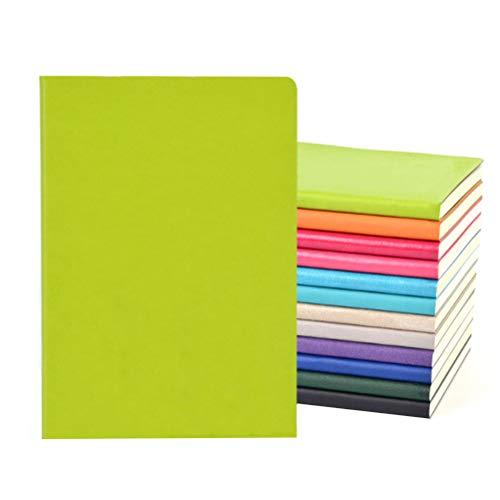 FOCCTS 4 pezzi A5 Blocchi note in pelle PU Colori casuali con 64 pagine 128 fogli (20,5 * 14,3 cm)