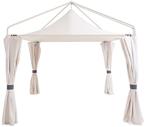 SORARA Gazebo | 300 x 300 cm | Incl. Sidewalls | Hanging Sturdy Square Outdoor Canopy and Shelter