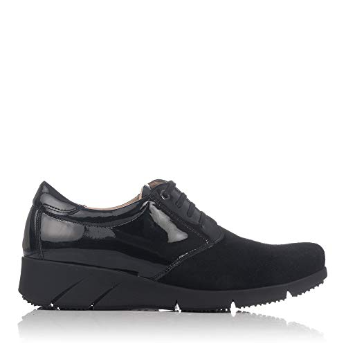 LINCE 88759 Zapato Cordones Piel Combi Mujer