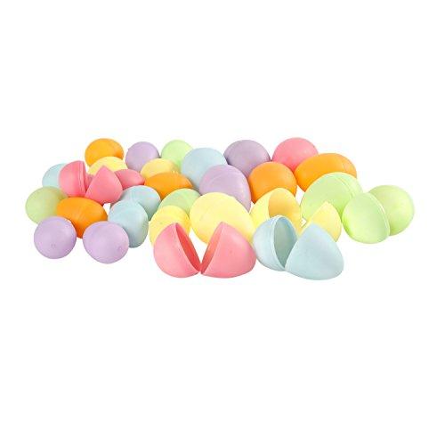 Creativ Company Kunststoff-Eier Zum Aufklappen, Pastellfarben, 36 Stück Sortiert