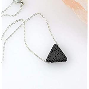Dainty Triangle Lava Stone Diffuser Necklace