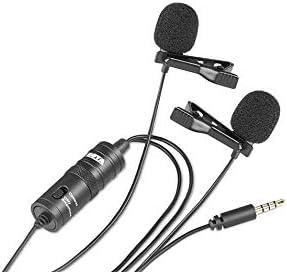 BOYA BY-M1DM Doppelkopf-Lavaliermikrofon für DSLR Canon Nikon Smartphone G0P7