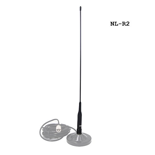 Antenne Radio Voiture Universelle Longue Huanuo NL-R2 Double Bande VHF UHF 144/435MHz pour Mobile Radio FT-8900R TYT TH-9800 Wouxun KG-UV950p KG-UV920R QYT KT-7900D KT-UV980 Plus