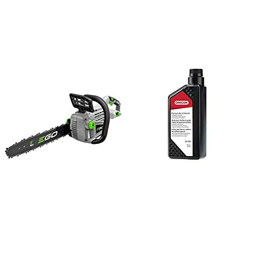 EGO Power+ CS1600 16-Inch 56V Lithium-ion Cordless Chainsaw - Battery and Charger Not Included & Oregon 54-026 Bar and Chain Oil, 1 Quart