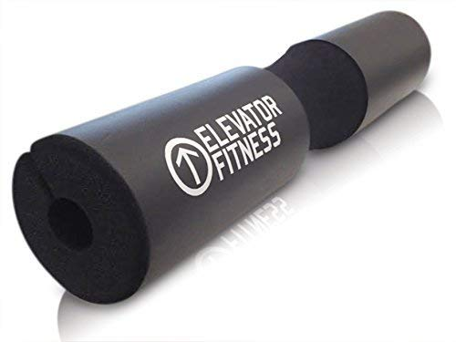 Elevator Fitness Squat Pad Barbell Pad for Squats, Lunges, and Hip Thrusts - Foam Sponge Pad - Provides Relief to Neck and Shoulders While Training
