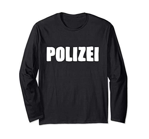 Polizei Design Oficial de policía alemán Manga Larga