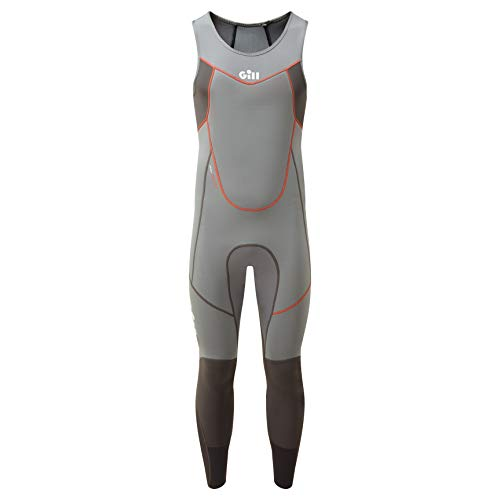 Gill Mens Zenlite 2mm Flatlock Skiff Suit - Steel Grey - Thermal Warm hittelaag Lagen - Zoned neopreen technology