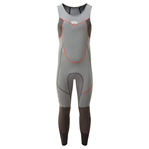 Gill Mens Zenlite 2mm Flatlock Skiff Suit - Steel Grey - Thermal Warm hittelaag Lagen - Zoned neopreen technology