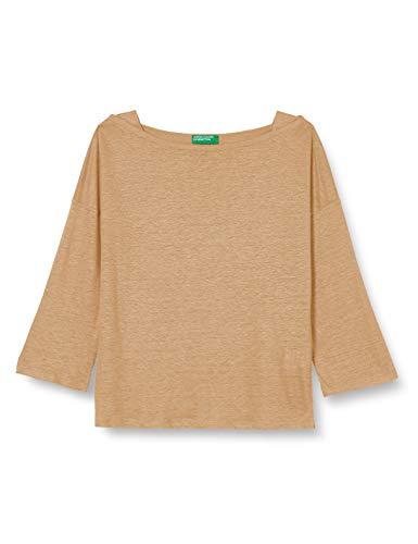 United Colors of Benetton Damen M/l T-Shirt, Tannin 193, M