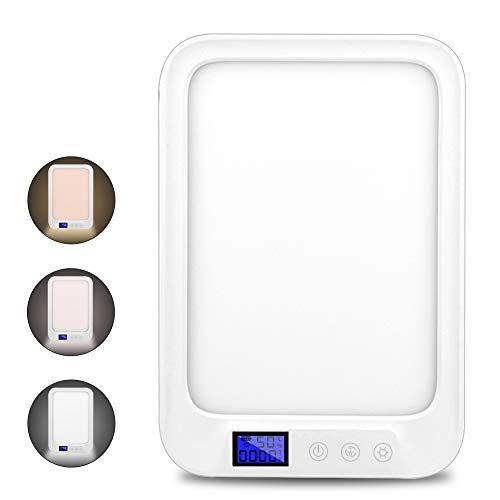 Tageslichtlampe 10000 Lux Lichttherapielampe Lichtdusche Touch Control Tageslichtlampe 6 Farben Temperatur einstellbar Sonnenuntergangsmodu Lampe