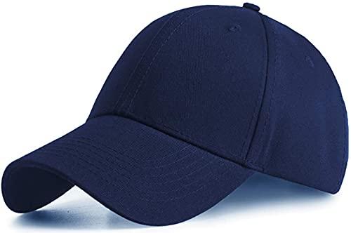 Etyepoh Unisex Kappe - Baseball Cap für Herren und Damen, Verstellbar Reine Farbe Baseboard Baseballkappe Mütze (A-Marine)