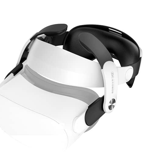 BOBOVR M2 - Oculus Quest 2 Correa para la cabeza, reemplazo para la correa Elite, reduce la presión de la cara cómoda al tacto (Electrónica)