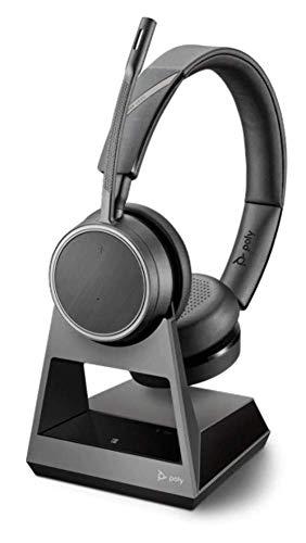 Poly Bluetooth-Stereo-Headset 'Voyager 4220 Office', USB-A Stecker an der Basis, SoundGuard, Mikrofonarm, Dynamische Stummschaltung, Skype for Business, Schwarz