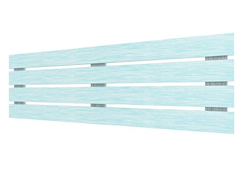 LA WEB DEL COLCHON - Cabecero de Madera Rústico Lombardía para Cama de 180 (190 x 50 cms) Turquesa | Cabeceros Madera | Dormitorio Matrimonio | Cabezal Cama |Estilo nórdico