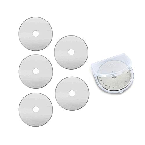 Replace Rotary Blades Compatible with Fiskars Olfa Martelli Truecut,Rotary Cutter Blades for Quilting Scrapbooking Sewing Sharp and Durable